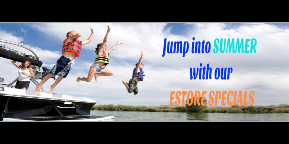 Estore Specials | Shy Beaver Boat Center | James Creek